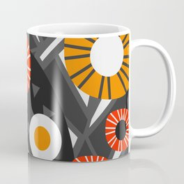 Funky flowers and succulents in the dark Coffee Mug