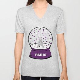 Paris Boule à cœurs Unisex V-Neck