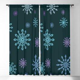 Cute Modern Christmas Snowflakes Regular Repeating Seamless Pattern Blackout Curtain