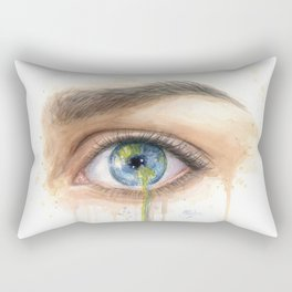 Crying Earth Eye Rectangular Pillow