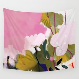 abstract jungle leaves Wall Tapestry