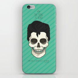 The King is dead iPhone Skin