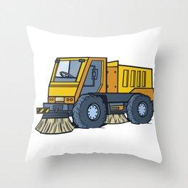 Sweeper street clean Throw Pillow