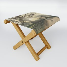 Danloes Cottage, Kenmare, Kerry Ireland illustration by Luis Aviles Folding Stool