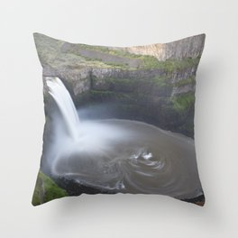 Palouse Falls at Sunrise Throw Pillow