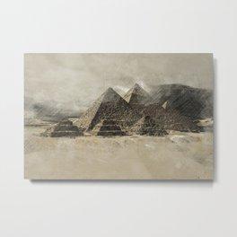 The pyramids - Egypt Metal Print