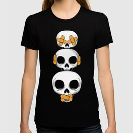 Cute Skulls No Evil II T-shirt