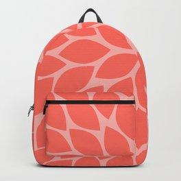 Coral Chrysanthemum Backpack