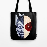 zuko Tote Bags featuring Blue Spirit by sambeawesome