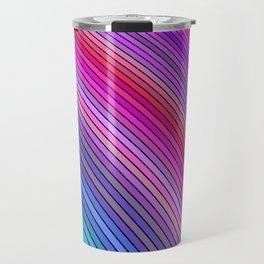 Cold rainbow stripes Travel Mug