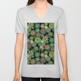 Succulents Unisex V-Neck