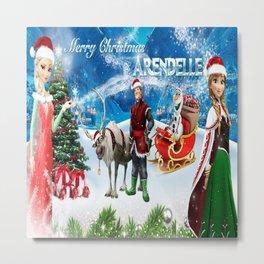 Frozen Christmas Metal Print