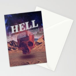 Hell is other people. Stationery Cards