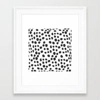 polka dot Framed Art Prints featuring Polka dot by Lolita Stein