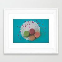 macarons Framed Art Prints featuring Macarons by Jessica Torres Photography