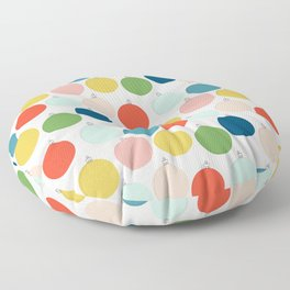 Home for the Holidays | More Ornaments Floor Pillow