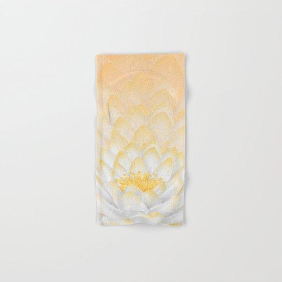 White Peach Lotus Hand & Bath Towel