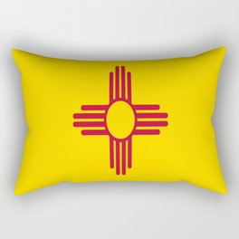 flag new mexico-usa,america,sun,Zia Sun symbol,New Mexican,Albuquerque,Las Cruces,santa fe,roswell Rectangular Pillow