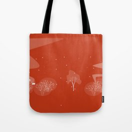 nuage fond orange Tote Bag
