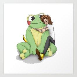 Harry's frog plushie Art Print