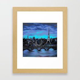 Eiffel Tower ~ Paris France Framed Art Print