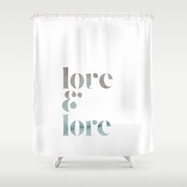 love & lore Shower Curtain