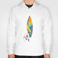 surfboard Hoodies featuring Surfboard abstract triangle by frap231