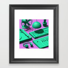 Low Poly Studio Objects 3D Illustration Framed Art Print
