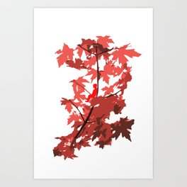 Tree Sitting Art Print