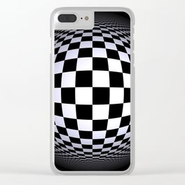 black-and-white -01- Clear iPhone Case