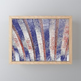 The Old Red White And Blue Framed Mini Art Print