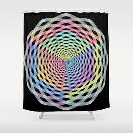 Hypercube Spiral Shower Curtain