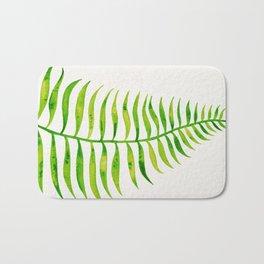 Lime Palm Leaf Bath Mat