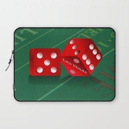 Craps Table & Red Las Vegas Dice Laptop Sleeve