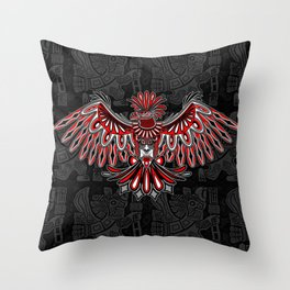 Eagle Tattoo Style Haida Art Throw Pillow