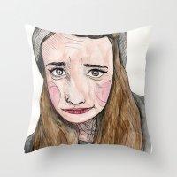 weird Throw Pillows featuring Weird. by Nova