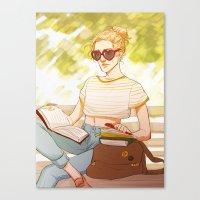 enjolras Canvas Prints featuring Summer Enjolras by batcii