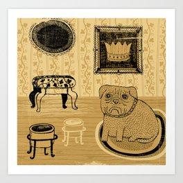 Princess. French bullmastiff Art Print