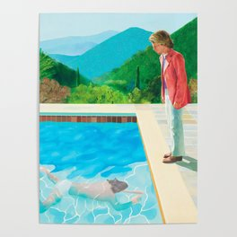 stand and swim people Poster