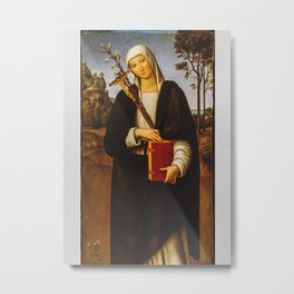 Saint Catherine Of Siena Metal Print