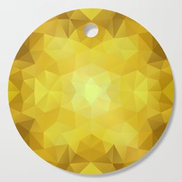 Triangles design in yellow colors Cutting Board