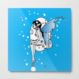 The blue fairy Metal Print