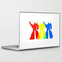 optimus prime Laptop & iPad Skins featuring Optimus Prime Colors by Christopher