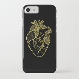 Designer Heart Gold iPhone Case