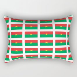 Flag of burkina faso- burkinabe,mossi,fula,ouagadougou,dioula,bobo-dioulasso,sahel,voltaic. Rectangular Pillow