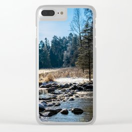 Mississippi Headwaters in December Clear iPhone Case