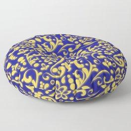 3D flamboyant flower bed - King's messenger Floor Pillow