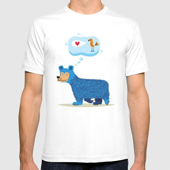 Bear Thinks Of Bird T-shirt