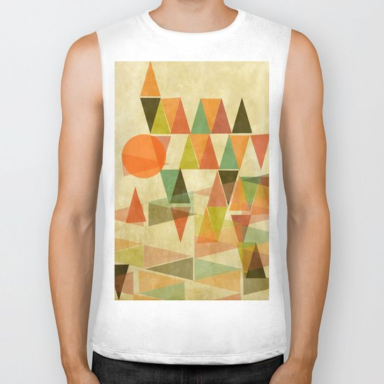 Abstract Landscape Biker Tank