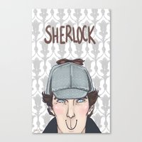 enerjax Canvas Prints featuring Sherlock by enerjax